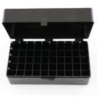 Hinged Lid Box, 50 Capacity, Black, 5/cs