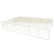 Acrylic Compartment Box, 6 Compartments