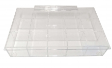Acrylic Compartment Box, 15 Compartments