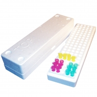 Styrofoam Micro-Tube Storage Box, 10/cs