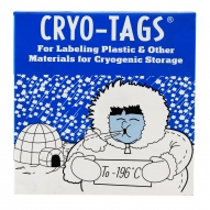 "Cryo-Tags, 1.5x3/4"", White, 1000/pk"