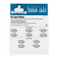 "Flag-Tags, Laser, 2.5x0.5"", White, 1500/pk"