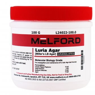 Miller's LB Agar, Granulated, 100 G