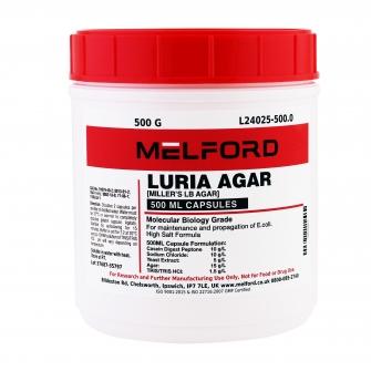 Miller's LB Agar, 20G Capsules, 500 G