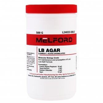 LB Agar, Low Salt Formula, Granulated, 500 G