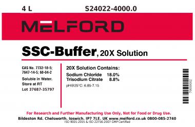 S24022-4000.0 - SSC Buffer, 20X Solution, 4 Liters