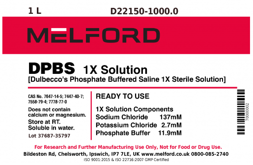 DPBS 1X Solution, 1 L