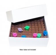 Micro-Tube Storage Box Set, Cardboard w/ Partition, 100 Tube