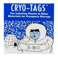 "Cryo-Tags, 1.5x3/4"", White, 1000/pk"