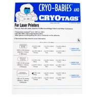 "Cryo-Tags, Laser, 1.5x3/4"", White, 1200/pk"