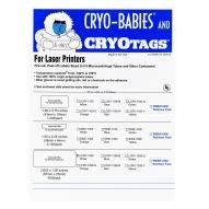 "Cryo-Tags, Laser, 2.63x1"", 600/pk"