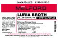 Miller's LB Broth, 25G Capsules, 500 G